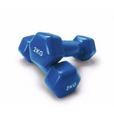 Double Dumbbells Vinyl - 2 KG - Blue - 2 Pcs